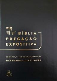 Biblia Pregação Expositiva Preta Luxo Hernades