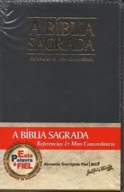 Biblia Acf Referencias E Mini Concordancia Cinza Luxo