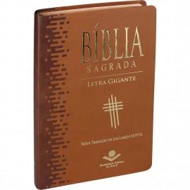 Biblia Letra Gigante Ntlh Luxo Marrom