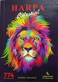 Harpa PQ. Brochura c. 774 hino letra grande leão preto