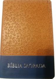 Bíblia RC Sagrada Verde marrom e azul luxo