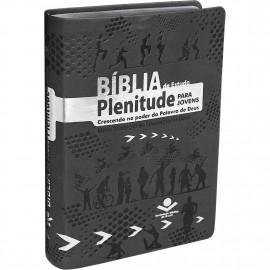 Biblia Plenitude Para Jovens Luxo Pu Preta