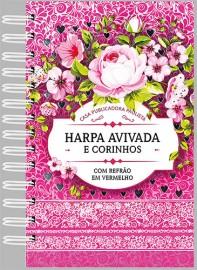 Hinário espiral Letra Hipergigante – Mod 03 –floral rosa