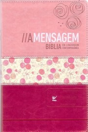 Biblia Mensagem rosa claro e escuro ling contemporanea