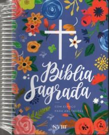 Biblia Nvi Anote Espiral Ceu Azul