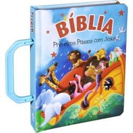Biblia Primeiros Passos Com Jesus  Alca Azul