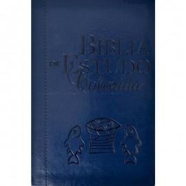 Biblia Colorida Azul Luxo
