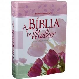 Biblia Da Mulher Grande Tulipa Rc