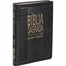 biblia mais fina (rc) com harpa preta