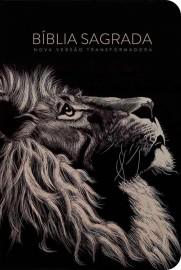 Bíblia Nvt Lion Head preto capa dura