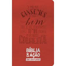 biblia Em Acao de  Estudo Capa vermelha