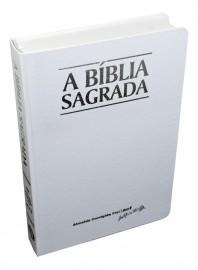 Biblia Classic Acf  Branca Letra Grande Semi Luxo