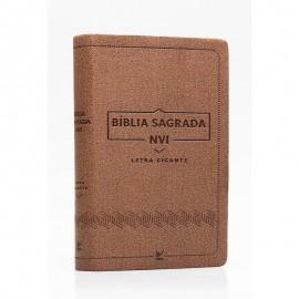 Biblia Nvi Letra Gigante Luxo Marrom