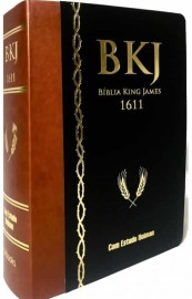 Bíblia 1611 King James De Estudo Holman Marrom Com Preta