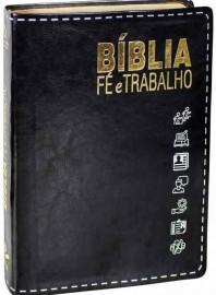 Bíblia Fé e Trabalho luxo preta