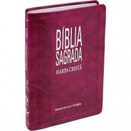 Biblia Mais Fina Rc Com Harpa Purpura Nobre