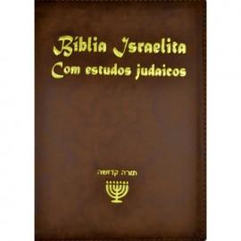 Bíblia Israelita Com Estudos Judaicos  Luxo Marrom