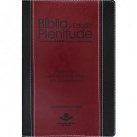 Biblia Plenitude Preta E Vinho Rc Luxo
