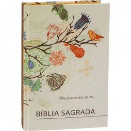 Bíblia Sagrada capa dura beira laranja