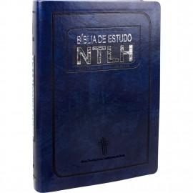 Biblia De Estudo Ntlh Grande Azul Nobre