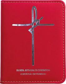 Hinário Luxo PU Letra Gigante – Modelo 11 – FÉ vermelho