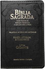 Bíblia Letra Grande Capa PU Luxo – PRETA