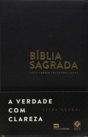 Bíblia Nvt Preta Luxo Letra Normal