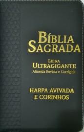 Biblia lt ultragigante RC ziper com harpa