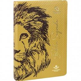 Biblia Leao Capa Dourada Luxo Naa
