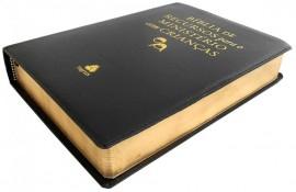 Bíblia de Recursos para Ministério preta luxo