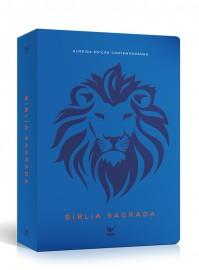 Bíblia AEC letra grande – leao azul luxo