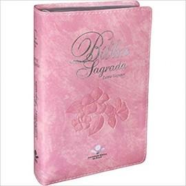Biblia Letra Gigante  Ra Rosa Claro Sbb