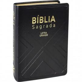 Biblia Letra Gigante preta nobre Luxo Naa