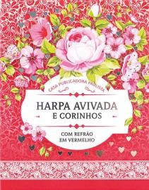 Harpa Avivada e Corinhos pequena Brochura M.03 Floral Rosa