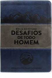 Biblia Desafios De Todo Homem Azul Cinza  Nvt