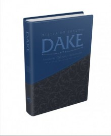 Biblia dake cinza e azul luxo
