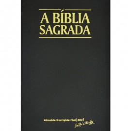 Biblia Acf Letra Gigante Preta Luxo