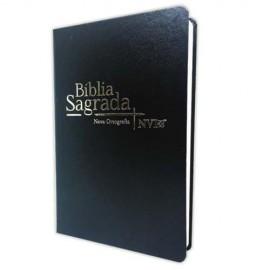Biblia Nvi Semi Luxo Preta - Geografica 2 cores