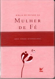 Biblia De Estudo Mulher Fe Rosa Claro E Vinho