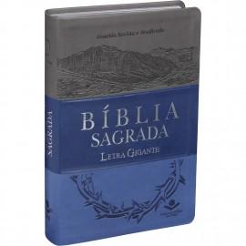 Biblia Letra Gigante Ra 3 Cores  Emborrachada