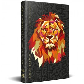 Bíblia King James Atualizada Leão Geométrico Capa Dura