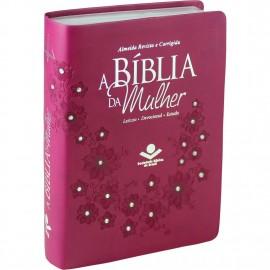 Biblia Da Mulher Media Vinho Diamante Rc