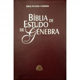 Biblia  Estudo De Genebra Vinho luxo