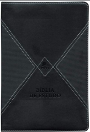 BIBLIA DE ESTUDO NVI PRETA E CINZA
