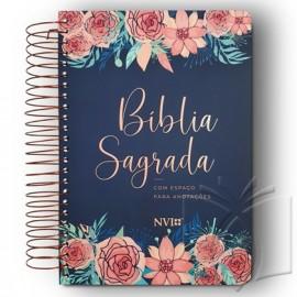Biblia Nvi Anote  Rosas Flores Espiral