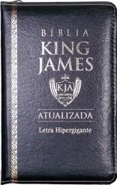 BIBLIA KING JAMES ATUALI. PU ZIPER - PRETA
