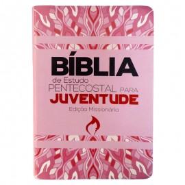 Biblia Estudo Pentecostal Para Juventude  Rosa