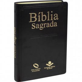 Biblia Slim Preta Luxo Naa Media