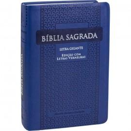 Bíblia Sagrada Letra Gigante luxo azul