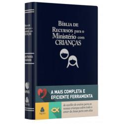 Bíblia de Recursos para Ministério luxo azul